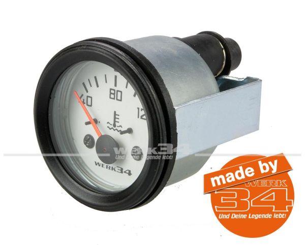 Zusatzinstrument, Wassertemperatur (40~120°C), weiß, Ø52mm