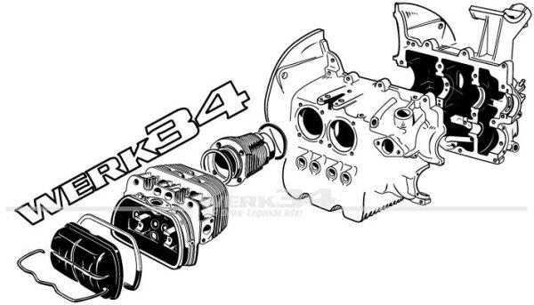 "Aufkleber ""Typ 1 Motor"" transparent"