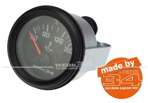 Zusatzinstrument, Öltemperatur (50~150°C), schwarz, Ø52mm