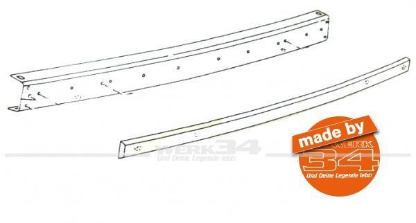 Prallleiste nur für Metallstoßstange, hinten, passend für Modelle von 08/79-07/92