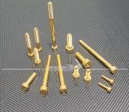 Schraube Innensechskant M6 x 10 - V2A vergoldet