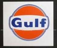 "Aufkleber ""Gulf"", groß"