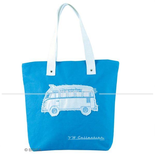 "VW Bulli Canvas Shopper Bag ""Blau"""