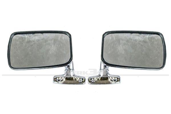 Chromspiegel, Außenspiegel Chrom, Satz für rechts und links, Zubehör-Qualität