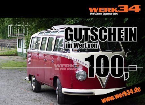 Geschenk - Gutschein im Wert von 100 Euro, Motiv: Bus