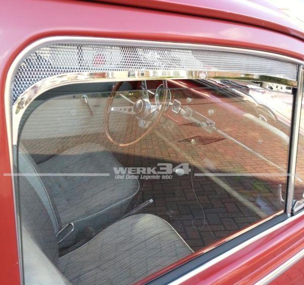 Paar Frischluftgitter für Fahrer- und Beifahrertür, poliertes Aluminium, ab 1964