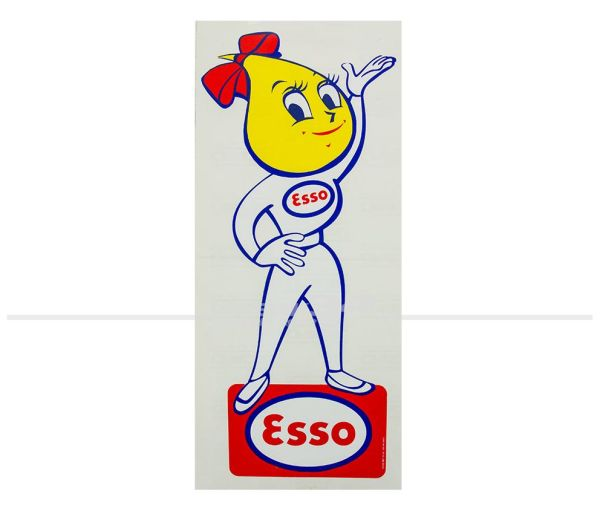 """Aufkleber """"Esso Frau"""", groß"""