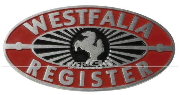 Westfalia Register Plakette