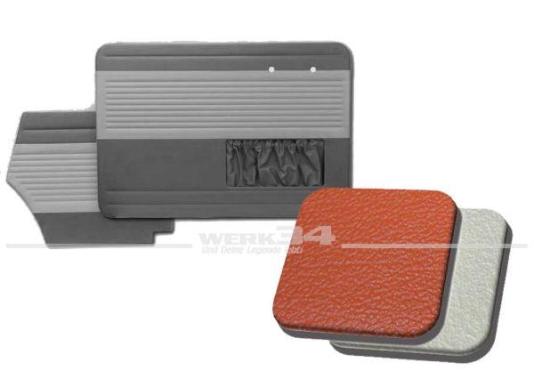 Tür- und Seitenverkleidungen mit Kartentasche, Cabrio, Classic-Style, 55-64, steinrot