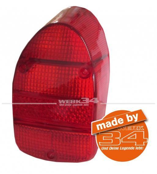 Rückleuchtenglas rot passend für Modelle von 08/67-07/72