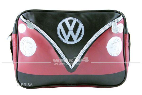 "Schultertasche VW Bulli quer ""Rot/Schwarz"""