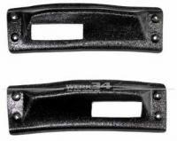 Paar Abdeckungen für Verdeck Verschlusshaken, passend für Modelle bis 11/68