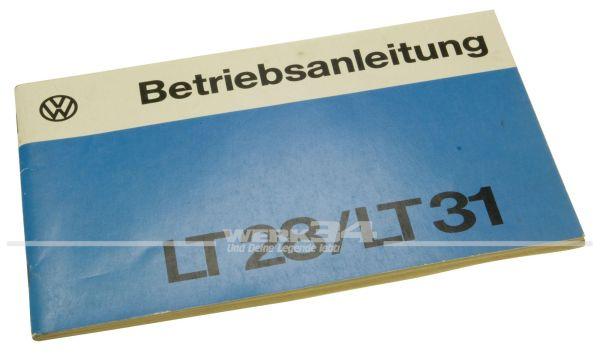Betriebsanleitung Volkswagen LT 28/LT 31
