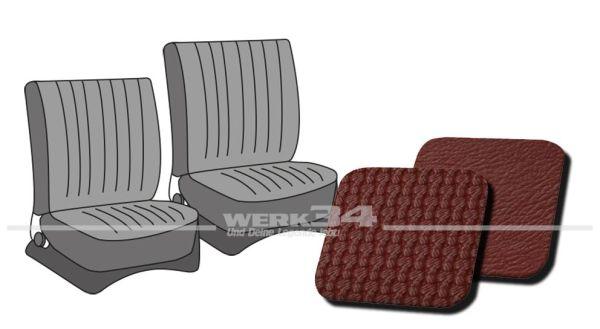 Sitzbezüge vorne, passend für Typ 3, Bj. 1965-72, Korbmuster rot