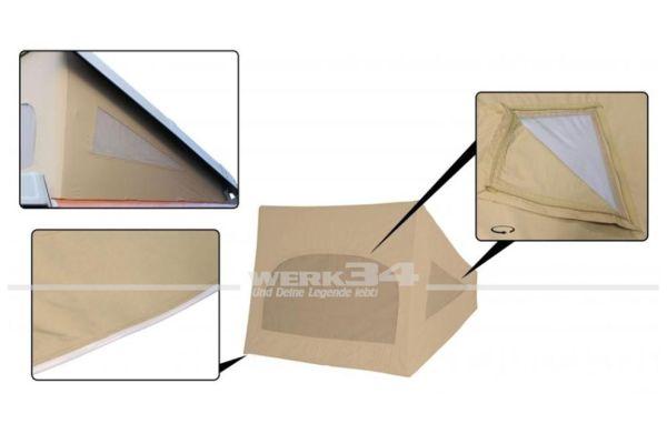 Zelt für Westfalia Hubdach / Klappdach, passend für Modelle von 08/73-07/79, beige