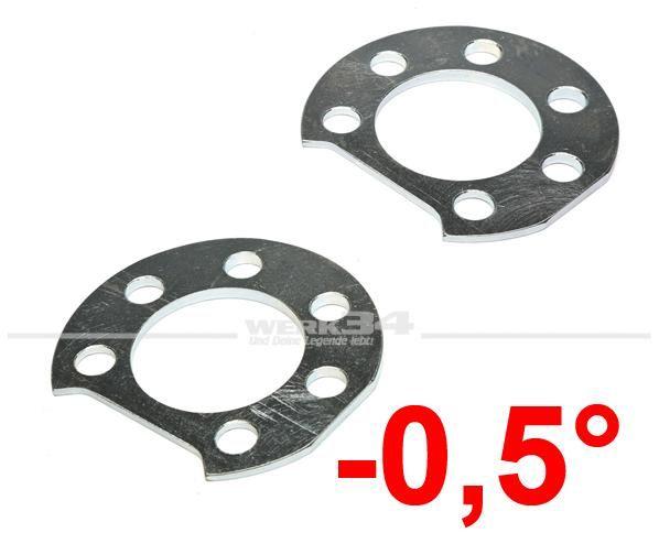 Adapterplatten Set für Sturtzverstellung an der Hinterachse -0,5°