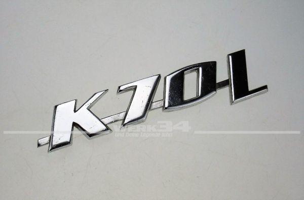"""Schriftzug """"K 70 L"""""""