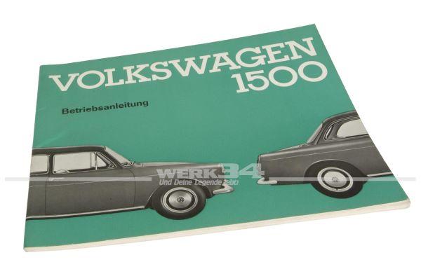 Betriebsanleitung Volkswagen 1500 Ausgabe August 1963