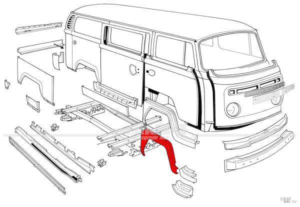 Einstieg Außenkante rechts, passend für Modelle von 08/71-07/79