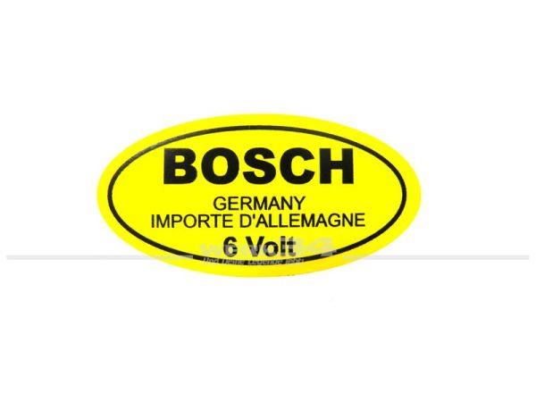 """Aufkleber """"BOSCH 6 Volt"""""""