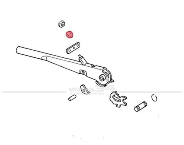 Nachstellmutter für Handbremsseil, passend ab 08/65