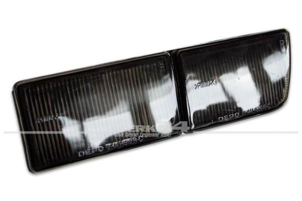 Blende lang, Blinker/Nebelscheinwerfer, rechts, schwarz , Golf III und Vento