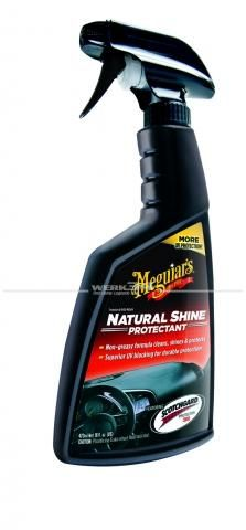 Meguiars Cockpitpflege Natural Shine Vinyl & Rubber Protectant (473ml), Grundpreis pro Liter: 39,96 Euro