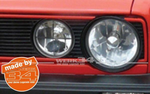 """Zierleisten """"GTI-Style"""" in rot, passend für Golf I Seriengrill"""