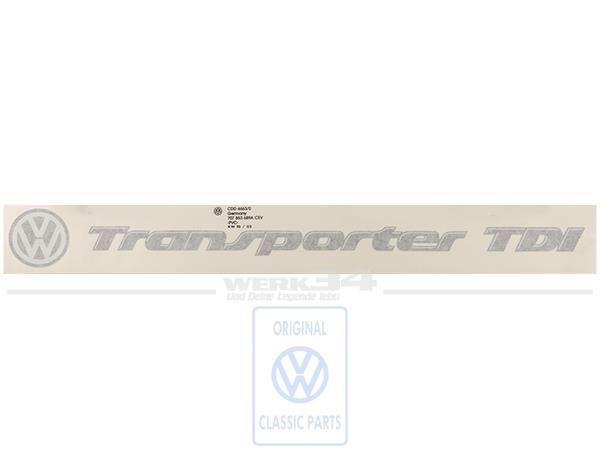 "Schriftzug ""Transporter TDI"""