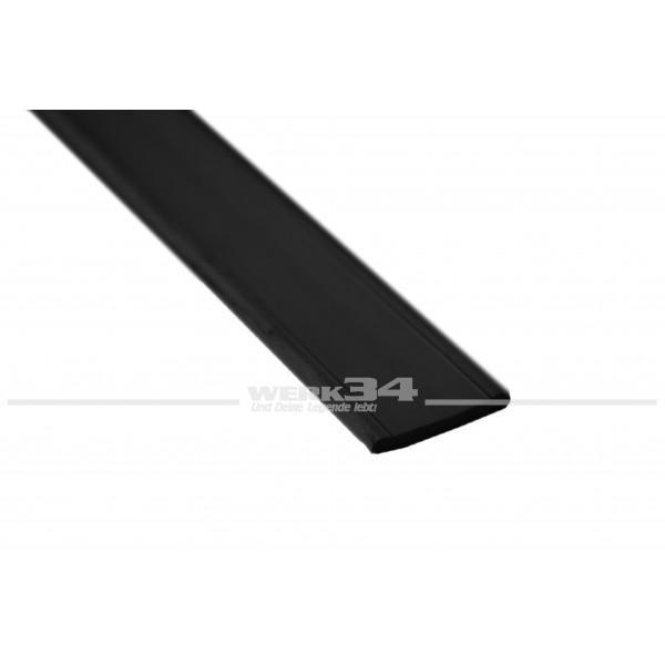 Profil für Gardinenschlaufe, schwarz, Preis pro Meter