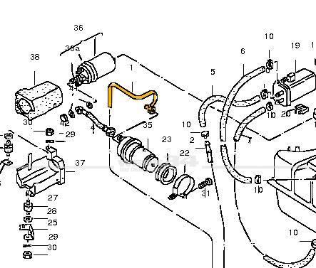Kraftstoffleitung, passend für Scirocco II + Golf I Cabrio