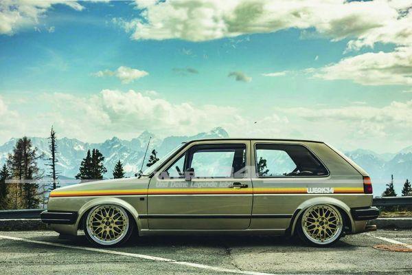 """Zierstreifen """"WERK34"""" Retro Style, seitlich, passend für diverse Fahrzeuge weiß"""