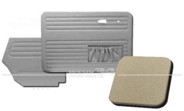 Verkleidungssatz 4-tlg. in Farbe hellgrau, passend für alle Cabrio ab Bj. 8/66-7/72
