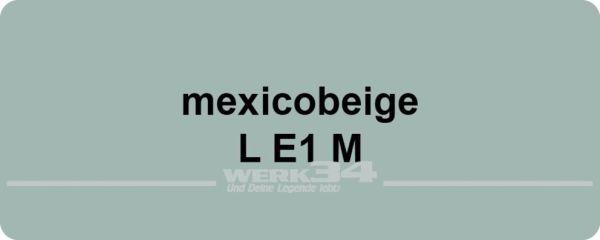 Aufkleber Lack Farbnummer/Farbcode LE1M mexicobeige