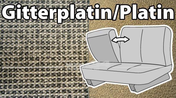 """Sitzbezüge für Mittelbank, 3-Sitzer, mit Klappenlehne """"Gitterplatin/Platin"""" 64-67"""