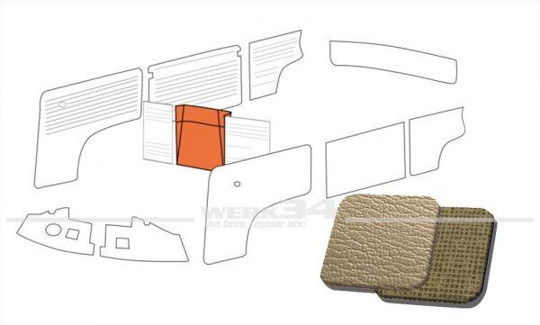 Verkleidung Reserverad in Platin / Gitterplatin passend T1 Bus 08/62 bis 07/67