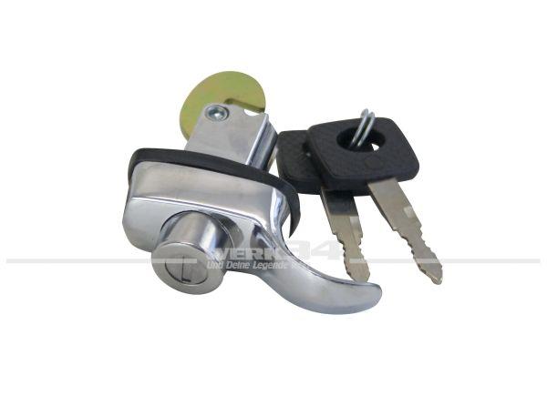 Deckelschloß abschließbar mit Schlüsseln 08/66-07/71 Käfer, Bus, Griffe und Schlösser für Motordeckel T1