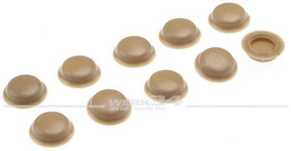 Abdeckung braun/beige für Schrauben im Sichtbereich, Lieferumfang 10 Stück für Bus T2, T3, Käfer und Typ 3 ab 08/67
