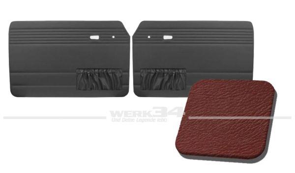 Türverkleidung rot, mit Kartentasche, passend für Typ 3 Bj. 1966-73