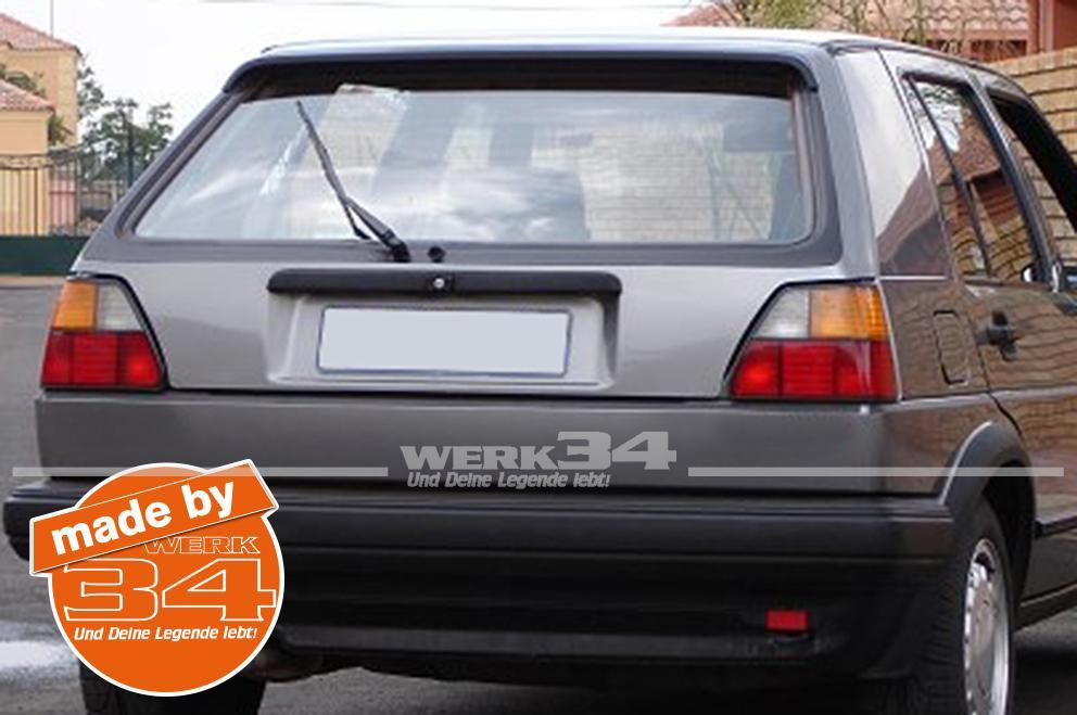 Tailgate Surround Black Vinyl Sticker Golf Mk2