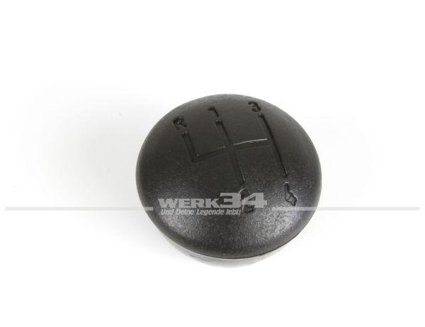 Schalthebelknopf schwarz, mit Schaltschema 4-Gang, passend für Golf etc.