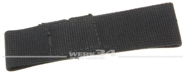 Türfangband für Klapptür, kurz, schwarz, aus Stoff, passend von 55-60