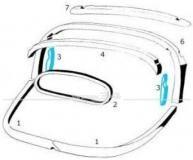 3.) Satz Hölzer innen außen, links und rechts, passend für Modelle von 10/59-07/64 Käfer,Cabrio,Verdeck