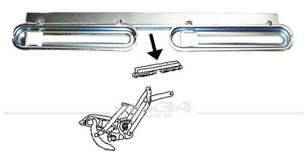 Fensterhebeschiene Cabrio für Türscheibe links, passend für alle Modelle ab 08/67 Käfer,Aufbau,Fensterheber