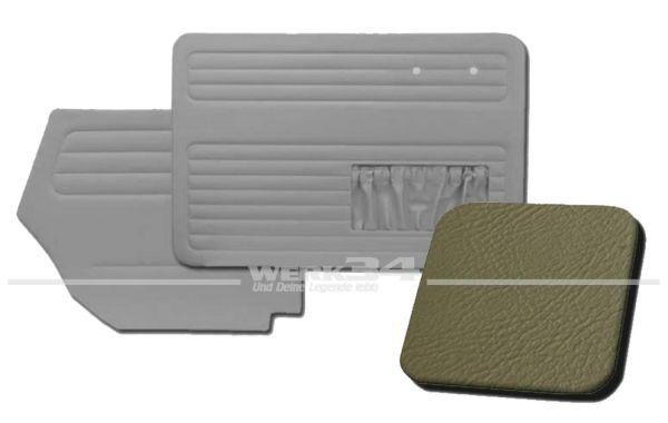 Verkleidungssatz 4-tlg. in Farbe grau, passend für alle Cabrio ab Bj. 8/64-7/66
