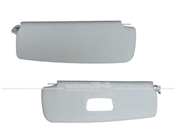 Paar Sonnenblenden mit Spiegel passend für Typ 3, Bj. 1961-74, weiß