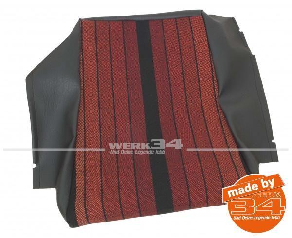 Sitzkissenbezug schwarz/rot gestreift