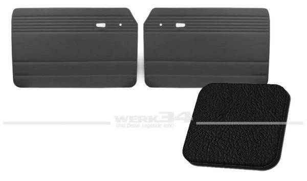 Türverkleidung schwarz, ohne Kartentasche, passend für Typ 3 Bj. 1961-65