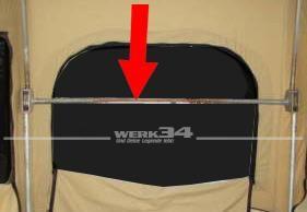 Querstange für Aufstellmechanik / Schlafdach, passend für Westfalia Bus T2