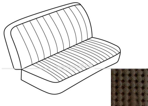 Sitzbezüge für Sitzbank hinten mit Rückenlehne, passend für Modelle von Bj. 08/73 bis 07/79, braun